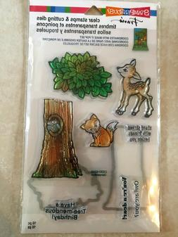 Stampendous Clear Stamp & Die Cut Set Forest Stampendous Dee