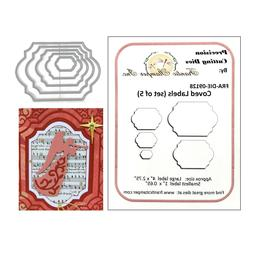 Coved Labels Metal Die Cuts Frantic Stamper Oval Rectangle F
