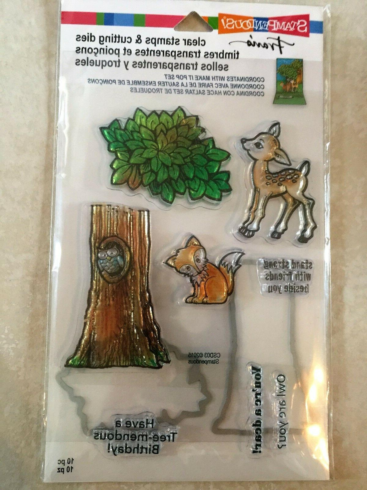 clear stamp and die cut set forest