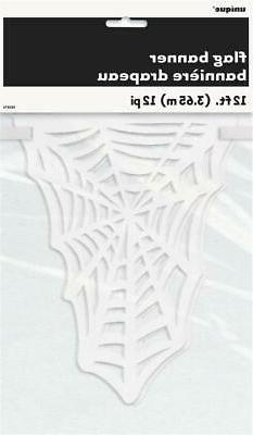 CLEARANCE Halloween Spiders Web 12ft Die Cut Banner