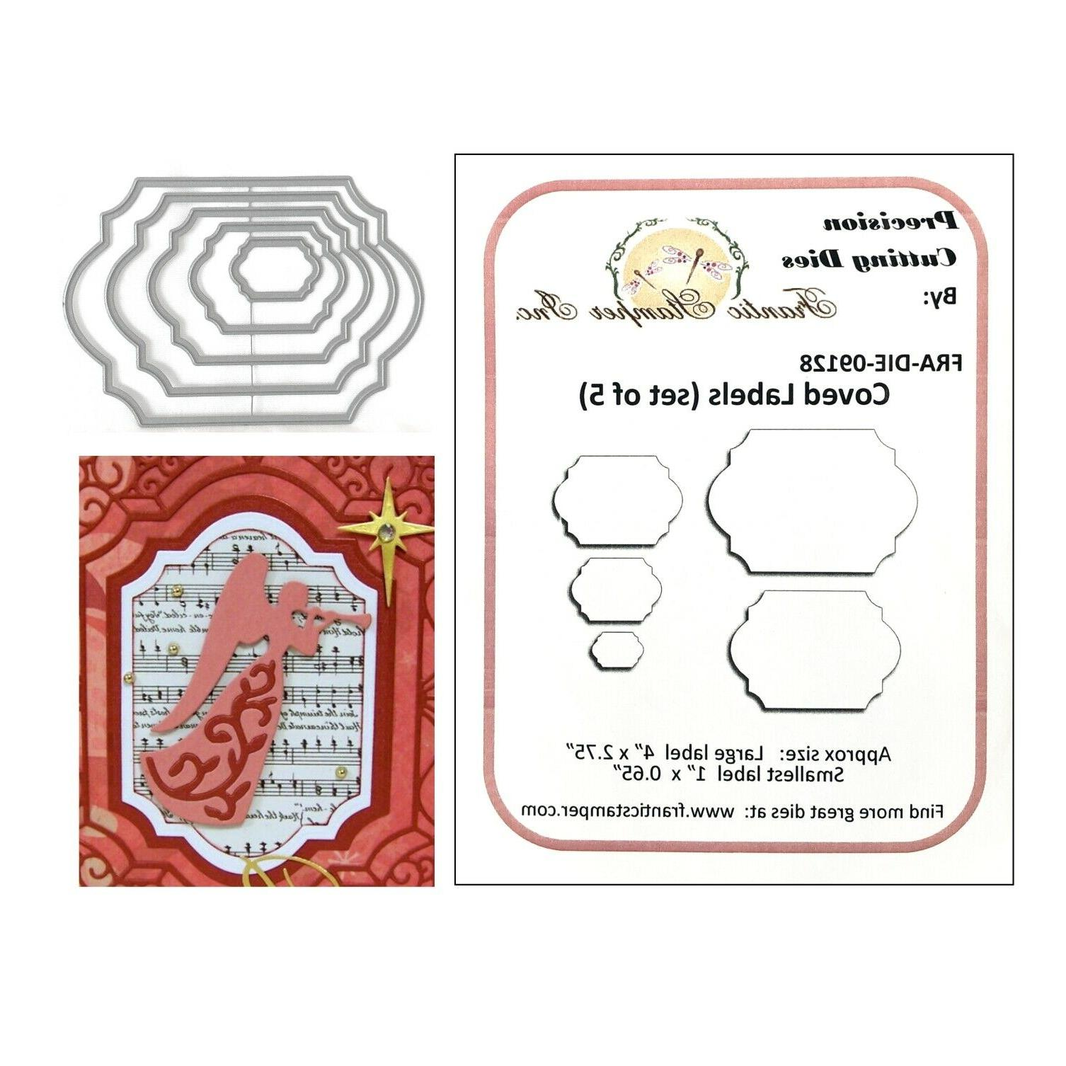 coved labels metal die cuts oval rectangle