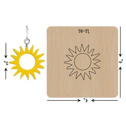 Leather Earrings Wooden Cutting Die/Sun /Sizzix Compatible-J