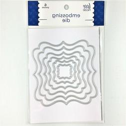Love Nicole Nesting Square Labels Embossing Cutting Die Set