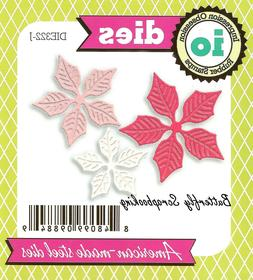 Small POINSETTIA Flowers Set Die Cutting Dies Impression Obs