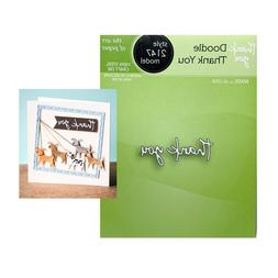 Thank You Words Metal Die Cut Doodle Poppystamps Craft Cutti